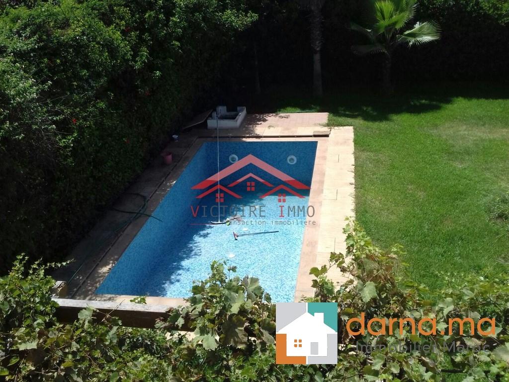 Villa lumineuse avec piscine en location hay riad - Location riad agadir avec piscine ...