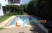 Immobilier-210, Villa lumineuse avec piscine en location à Hay Riad
