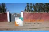 Immobilier-385, terrain clôturé Route ourika Marrakech
