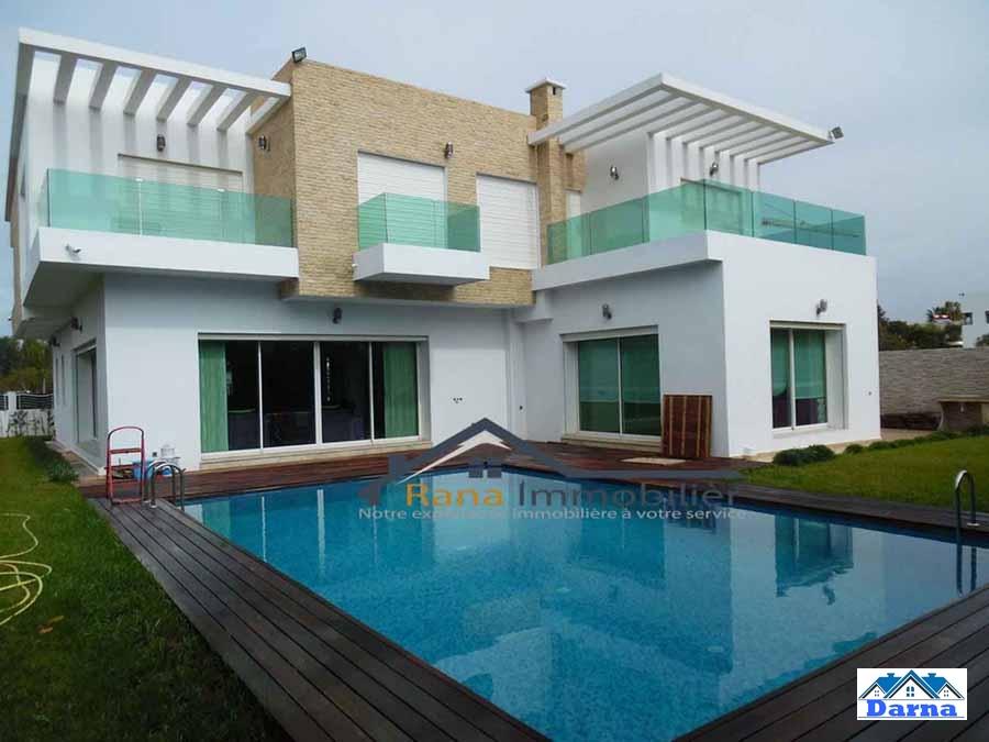 Immobilier 4314   Vente Jolie Villa Moderne 900m² à Rabat Souissi